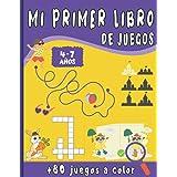 Mi Primer Libro de Juegos: Para niños de 4 a 7 años con +80 juegos a todo Color - Une los puntos, Juego de las diferencias, L