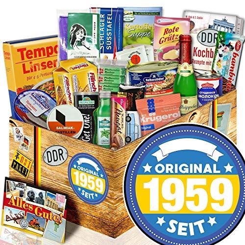 Original seit 1959 + Geburtstagsgeschenk Mann 60. + Ostpaket DDR Spezialitäten
