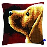 Vervaco Labrador Cross Stitch Cushion by Vervaco