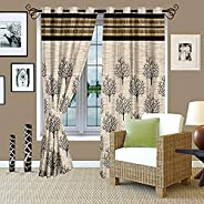 Story at Home Door Curtain, Black, 48 Inch X 84 Inch, DBR4009, 1 Piece