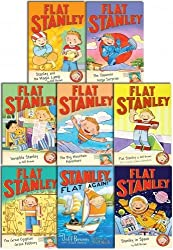 The Flat Stanley Adventure Series 8 Books Collection Set (The Big Mountain Adventure, The Japanese Ninja Surprise, The Great Egyptian Grave Robbery, Flat Stanley, Stanley Flat Again, Stanley and the Magic Lamp, Stanley in Space, Invisible Stanley)