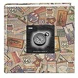 Pioneer Photo Albums DA-200MAP/TS 200-Pocket Photo Album with Printed Travel Design Cover, Travel