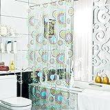 LFF- Wasserdichte Starke Warme Duschvorhang Amerikanischen Badezimmer Partition Vorhang Umweltschutz Mehltau Duschvorhänge (Größe : 180X180cm)