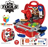 #10: Toys Bhoomi Kids Bring Along Junior Builder Tools Suitcase - 19pcs Set