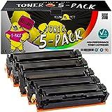 Yellow Yeti 5er Pack 201X 201A Premium Toner kompatibel für HP Color Laserjet Pro MFP M277dw M277n M274n M252dw M252n | CF400X CF400A 2.800 Seiten CF401X CF402X CF403X 2.300 Seiten [3 Jahre Garantie]