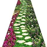 QiangDa Flur Teppich Läufer Langflor Teppiche Lang 3D Langer Gang Anti-Rutsch Sanfte Berührung Kunststoffkörnchen Verschleißfest Mehrdimensional, Dicke 6 Mm (Farbe : 2#, größe : 0.8m x 4m)