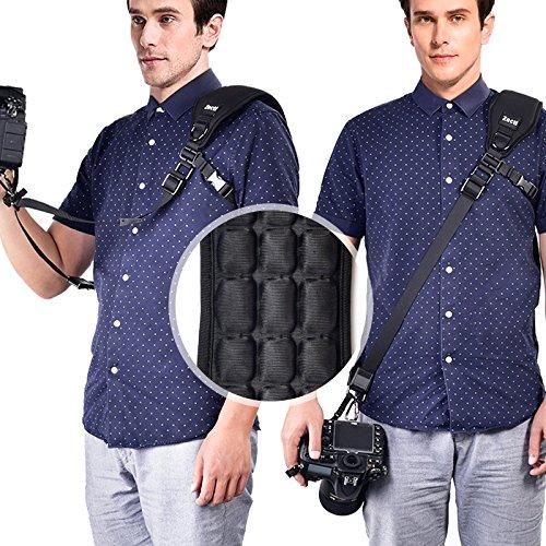 Zecti Kamera Schulter Hals Gurt für SLR DSLR Spiegellose Digitalkamera Canon Nikon Fuji Leica Olympus Lumix Sony