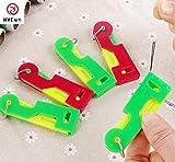 10 Teile/Los Automatische Nähen Stricknadeln Gerät Einfädler Fadenführer Nähwerkzeuge Farbe Senden Durch Zufällige Nähzubehör