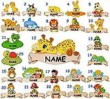 Holz - Namensschild / Wandbild / Türschild -  Biene  - incl. Namen - selbstklebend - für Kinderzimmer / oder Haustier Hundehütte - Tiere für Kinder Tier - Honig Bienen - personalisiert - Schild - Türschilder - Wandtattoo Bilder Namensschilder / Baby - Namen - Tür - Dekoschild - Wandschild