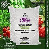 Bio-Anzuchterde Premium für Gemüse und Kräuter Aussaaterde Saaterde 10 Ltr. - PROFI LINIE Substrat - Gemüseerde Kräutererde