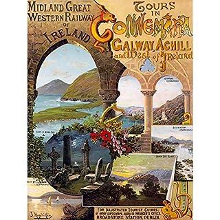 Wee Blue Coo LTD Vintage Travel West Ireland Galway Achill Art Print Poster Wall Decor Kunstdruck Poster Wand-Dekor-12X16 Zoll