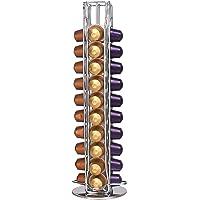 Supports pour Capsules de Café Nespresso, Tiroir de Rangement de Dosettes de Café pour 40 Capsules, 360 Degrés Rotable…
