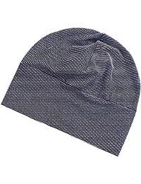 Erwachsene Unisex Mütze Mütze Baumwolle gestreift langer Jersey Beanie Mütze Hut Haube Beanie Mützen bei Haarausfall und Behandlung
