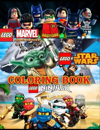 Lego 3 in 1 Coloring Book: Super Heroes (MARVEL & DC), Star Wars, Ninjago, great coloring pages for kids and adults por Mrs Fox