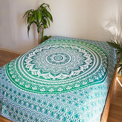 Narsinh 100% Cotton Single Jaipuri Blue bedsheet  available at amazon for Rs.170