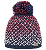 Nordbron3128 Carin Warme und stylische Bommel-Mütze in modischem Design und tollen Farben.Dickes und buntes Garn für den besonderen Look. Fleece Lining.Mehrfarbig (c048 navy), onesize