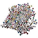 MagiDeal 300 Cristalli Pezzi Sew On Diamante Acrilico Strass Abbellimento - 6MM