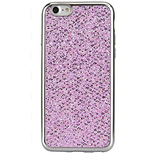 iPhone 7 Hülle, Yokata Glitzer Silikon Weich Case mit Bumper Bling Luxury Dünn Case Schutzhülle Protective Cover Lila