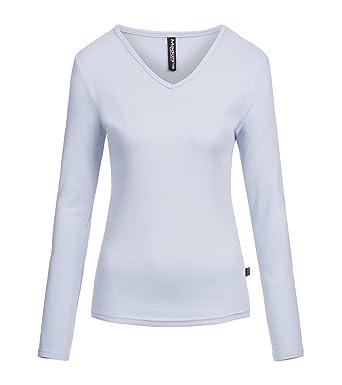 Damen Longsleeve Langarm T-Shirt Jersey Top Leicht tailliert