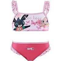 Bing Bunny - Bambina - Costume da Bagno Slip Monokini - Bikini 2 Pezzi - Intero con Volant Mare Piscina - Prodotto…