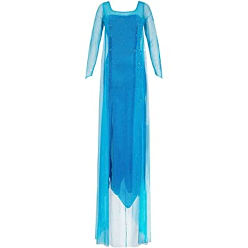 Katara 1768 - Déguisement d Elsa Reine des Neiges - Robe de Princesse pour  Adultes Costume de Cosplay - Taille S, Bleu d6d754375f56