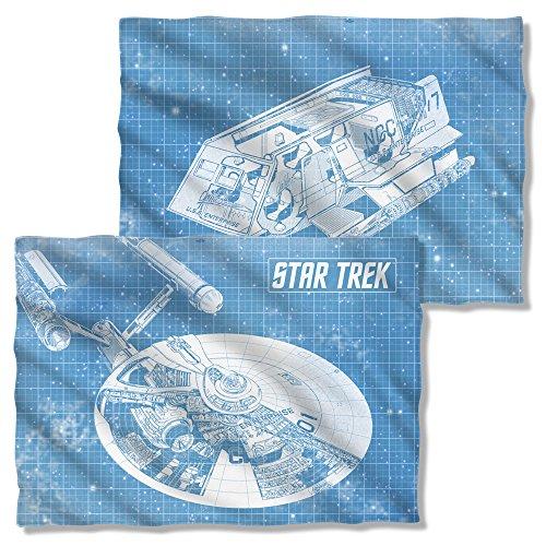 Preisvergleich Produktbild Star Trek 1960er Science Fiction Action TV Show Enterprise Blueprint vorne Kissen Fall zurück