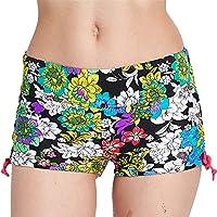 Fortuning\'s JDS® coloridos de las mujeres pantalones cortos de estiramiento troncos de natación pantalones cortos de playa de secado rápido
