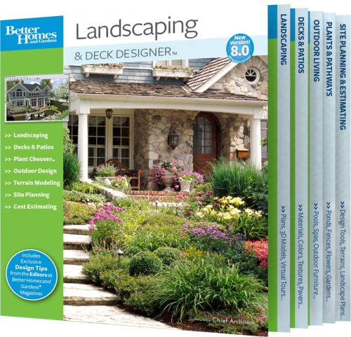 Better Homes and Gardens Landscaping and Deck Designer 8.0 (PC) - Homes Gardens-software Better And