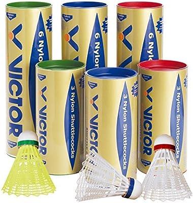 VICTOR Bádminton-Volantes de nailon 2000 6 unidades
