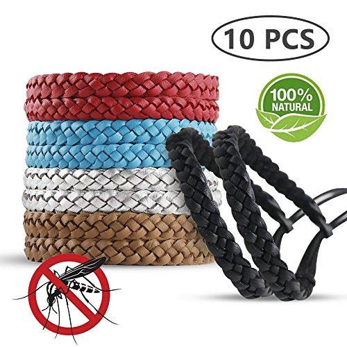 Stanbow Mückenschutz Armband, 10 Stück Moskito Anti Mücken Armband Mückenarmband, Naturals Mücken Armband Zum 10 Tage Insektenschutz, Repellent Moskito Armband für Outdoor und Indoor