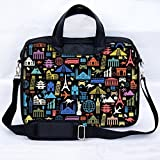 Sidorenko 17-17,3 Zoll Laptoptasche | Laptop Umhängetasche mit zwei Innentaschen für Zubehör | Notebook-Schultertasche - Notebook-Tasche Schmutz- und Wasserabweisend