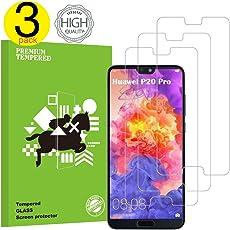 Huawei P20 Pro Panzerglas Schutzfolie, Liuyuu Hochwertiger 2.5D temperierter Film [3 Stück] [9H Härtegrad] [Anti Kratzen] [Ultra Klar] [Bubble-frei] [Einfache Installation]Displayschutz Gehärtetem Glass Displayschutzfolie Folie für Huawei P20 Pro