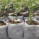 Moresave 100 Stück Pflanzbeutel Pflanzsack aus Vliesstoff Gartenzubehör, 14 * 16cm