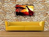 Dalinda® Designtapete Vliestapete in 3D-Optik African Sunset Natursteinmauer hell Tapete VT2258