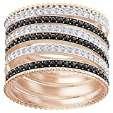 Swarovski Lollypop Ring Black Rose Gold Plated 5409182