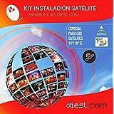 Diesl.com - KIT Hotbird 13º y Astra 19º | Canales libres en SD Y HD de los satélites Astra y Hotbird | Monoblock 6º preparada para la recepción de los canales de ambos satélites.