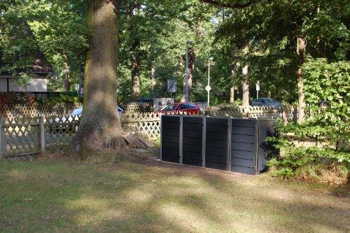 Mülltonnenbox Edelstahl, Modell Eleganza Line, 240 Liter, Viererbox, in RAL 7016 Anthrazitgrau - 2