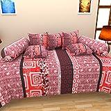 Bharti Home Fab 100% Cotton Modern Diwan...