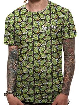 Rick y Morty camiseta para hombre del Portal de la invasión de la serie verde