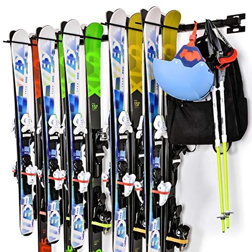 ikkle Almacenamiento de Snowboards | Tabique Armario para Esquís Soporte para Snowboard...