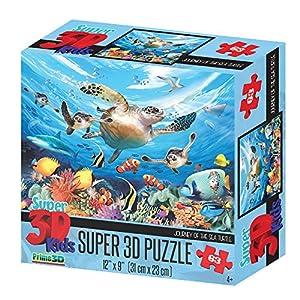 Howard Robinson hr13502Super 3D Viaje de la Tortuga de mar Puzzle ((63Piezas))
