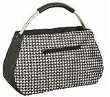 Chic to go Einkaufstasche Sunny Bag, schwarz/weiß mit Hahnentritt-Muster