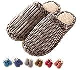 Indoor Hausschuhe Männer und Frauen Cozy Untröpfchen Memory Foam Leichtes Futter Plüsch Waschbar Warm Baumwolle Haus Haus (42 EU, Grau)