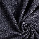 Fabulous Fabrics Strickstoff Waffelpiqué – Marineblau — Meterware ab 0,5m — zum Nähen von Pullovern, Strickjacken und Schals und Tüchern
