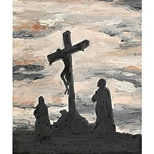 PB Jesus Crucified Peel & Stick Vinyl Wall Sticker Decal 18 x 21.4inch