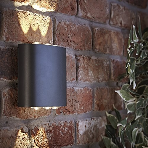 Biard Sylt Applique LED 6W IP54 in Antracite per Interni ed Esterni con Design Moderno Curvo – Lampada Impermeabile per Bagni Giardini e Molto Altro