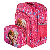 OKJI 14 Inches School Bag For girls fro - Back Pack combo (Set Of 2) for Junior School (Age group :2-5 yrs)