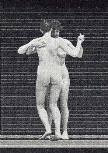 Postkarte 3D +++ LUSTIG von modern times +++ NACKTE FRAUEN TANZEND +++ L.M. KARTENVERTRIEB