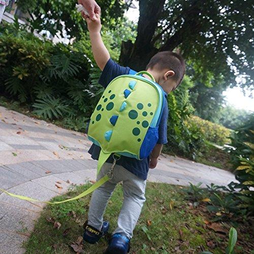 Yodo Sac à dos pour enfant avec harnais de sécurité, doublure isotherme à l'intérieur vert Green