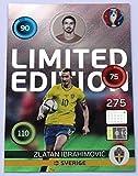 Panini Adrenalyn EURO 2016 - Zlatan Ibrahimovic Schweden limited Edition Karte Shiny